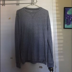 Gray casual long sleeve shirt